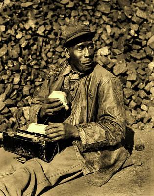 Photograph - Coal Yard Worker - Oak Ridge Tennessee 1946 by Ed Westcott