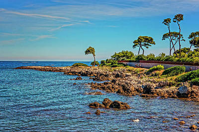 Photograph - Coast At Antibes France Dsc02221 by Greg Kluempers