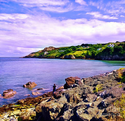 Rocky Coast At Howth Art Print