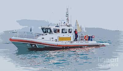 Photograph - Coast Guard Boat Race Duty by Grace Grogan