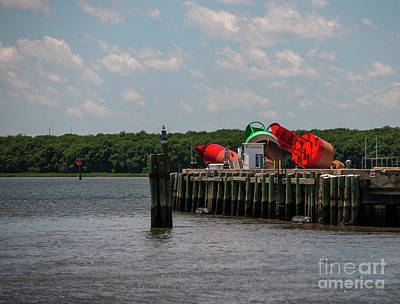 Photograph - Coast Guard Buoys by Dale Powell