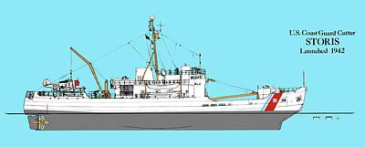 Coast Guard Cutter Storis Art Print by Jerry McElroy