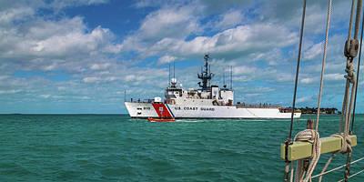 Coast Guard Wall Art - Photograph - Coast Guard Heading Home by Betsy Knapp