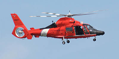 Photograph - Coast Guard Helicopter by Jimmie Bartlett
