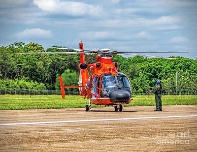 Photograph - Coast Guard Helo Redy by Nick Zelinsky