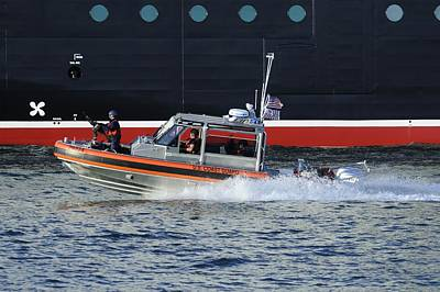 Photograph - Coast Guard Patrol Boat On Duty by Bradford Martin