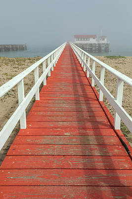 Photograph -  The Red Deck by Jonathan Nguyen