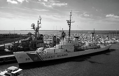 Photograph - Coast Guard Ship B W by Joseph C Hinson Photography