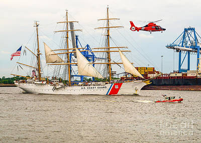 Photograph - Coast Guard Ship Barque Eagle by Nick Zelinsky
