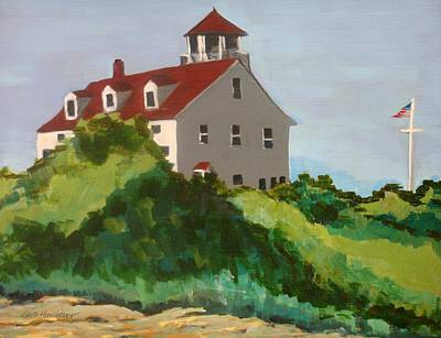 Coast Guard Station Block Island Ri Art Print