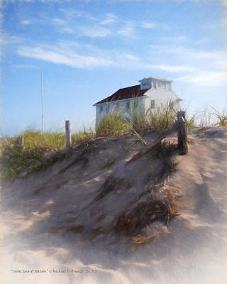 Cape Cod Painting - Coast Guard Station by Michael DArienzo