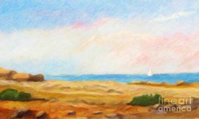 Seascape Impression Painting - Coast Impressionism by Lutz Baar