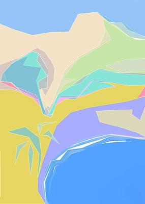 Digital Art - Coast Of Azure by Gina Harrison