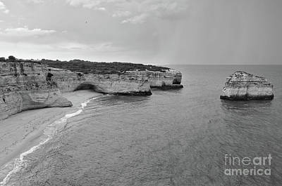 Photograph - Coast Of Carvoeiro In Monochrome by Angelo DeVal