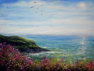 Painting - Coast Of Cornwall by Ann Marie Bone