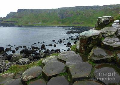 Photograph - Coast Of Giants Causeway In Northern Ireland by Barbie Corbett-Newmin