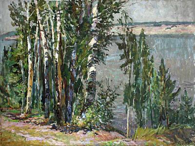 Painting - Coast Of The River Kama by Juliya Zhukova