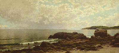 Rocky Beach Painting - Coast Off Grand Manan by Alfred Thompson Bricher