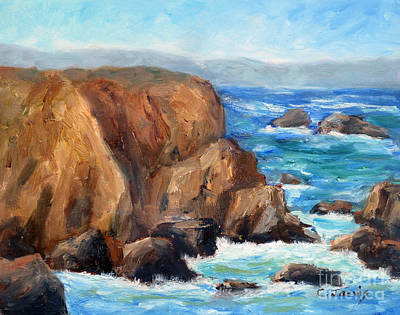 Painting - Coast Overlook by Carolyn Jarvis