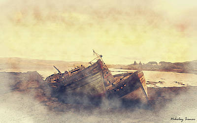 Coast Painting-forgotten-01 Art Print by Nikolay Ivanov