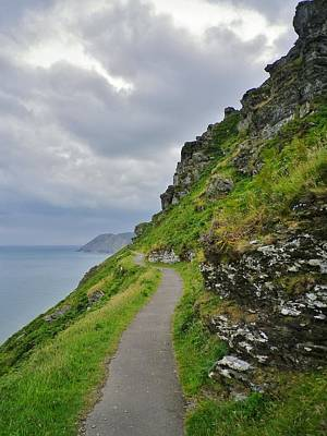 Photograph - Coast Path Lynton by Richard Brookes