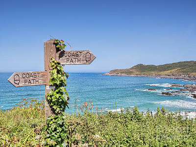 Photograph - Coast Path Sign by Colin and Linda McKie