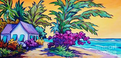 Caribbean Painting - Coast Road Home by John Clark
