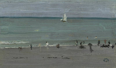 Whistler Painting - Coast Scene, Bathers by James Abbott McNeill Whistler