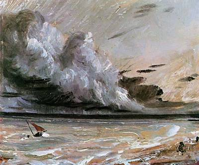 Painting - Coast Scene With Breaking Cloud Sun by Constable John