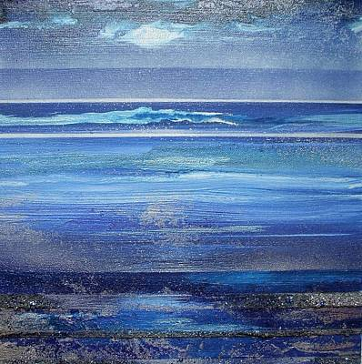 Coast Series Blue Am6 Art Print by Mike   Bell