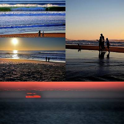 Photograph - Coast Sunset Collage by Jerry Sodorff