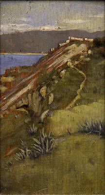 Tangier Painting - Coast, Tangier, by Norman Garstin