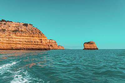 Photograph - Coastal Boat Trip In Glorious Teal And Orange by Georgia Mizuleva