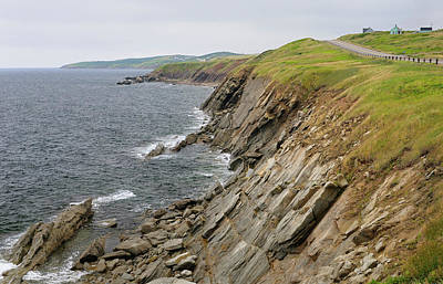 Cape Breton Photograph - Coastal Cabot Trail Road On The Gulf Of St Lawrence Cape Breton  by Reimar Gaertner