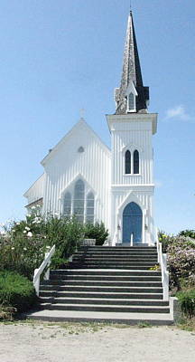 Photograph - Coastal Church by Rose Cowperthwaite