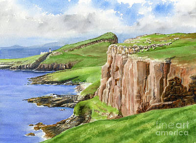 Coastal Cliffs Northwestern Scotland Original