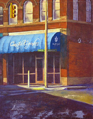 Streetscape Painting - Coastal Cupcakes by Steven Logan
