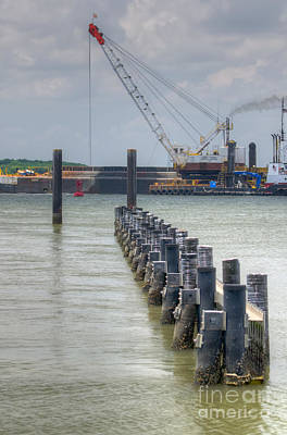 Photograph - Coastal Dredging by Dale Powell