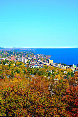 Photograph - Coastal Duluth In Autumn 2 by Robert Meyers-Lussier