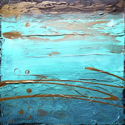 Coastal Escape I Textured Abstract Art Print