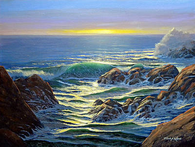 Painting - Coastal Evening by Frank Wilson