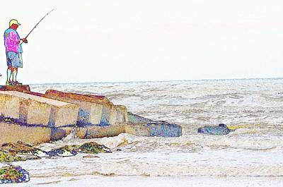 Coastal Fishing Art Print