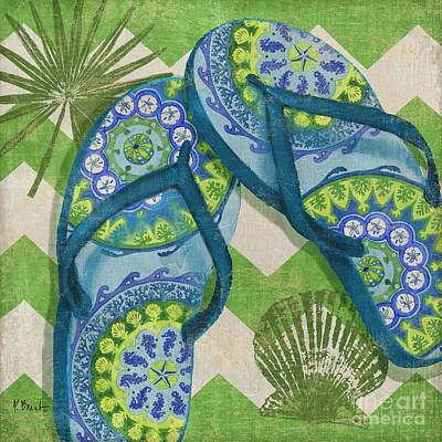 Coastal Flip Flops I Art Print by Paul Brent