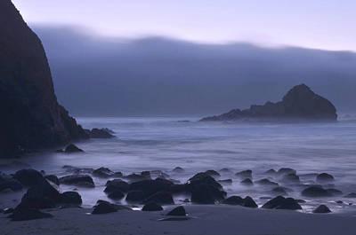 Pfeiffer Beach Photograph - Coastal Fog - Big Sur by Stephen  Vecchiotti