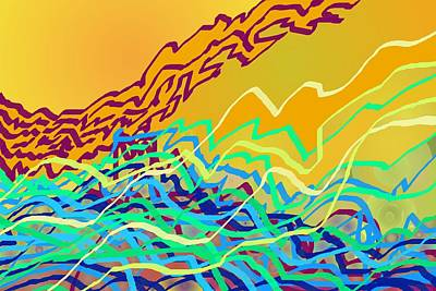 Digital Art - Coastal Frequencies 2 by Julia Woodman