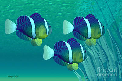 Clownfish Painting - Coastal Gems by Corey Ford