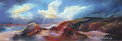 Coastal Glow Art Print by Rae Andrews