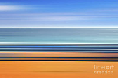Abstraction Photograph - Coastal Horizon 1 by Delphimages Photo Creations