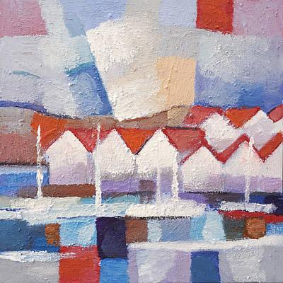 Sweden Painting - Coastal Houses by Lutz Baar