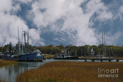 Photograph - Coastal Island Town by Dale Powell